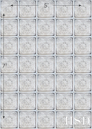 Antique White Tin Tiles photography backdrop & background