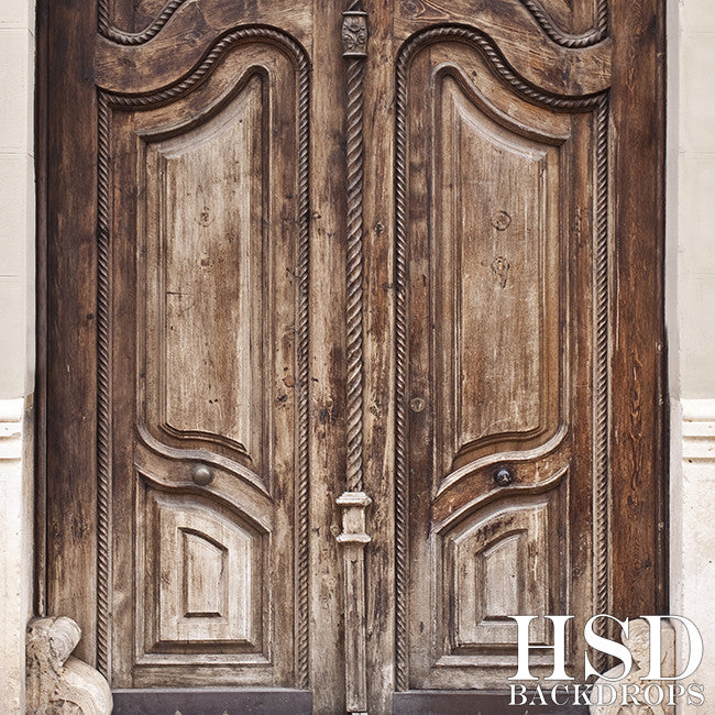 Ornate Old Door photography backdrop & background
