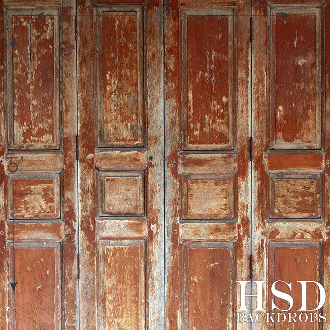Photography Backdrop | Weathered Wood Doors