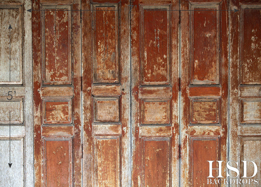 Weathered Wood Doors photography backdrop & background