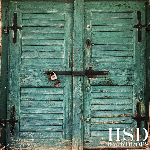 Photography Backdrop | Old Blue Barn Doors