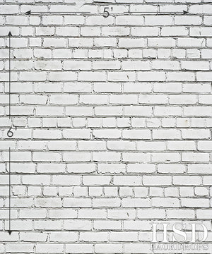 White Brick Wall Photography Backdrops Hsd