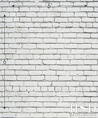 Photography Backdrop | White Brick Wall