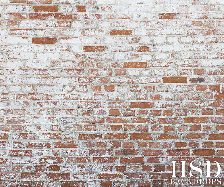 Red White Brick Wall Photography Backdrops Hsd