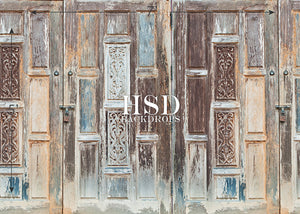 Vintage Wood Doors photography backdrop & background
