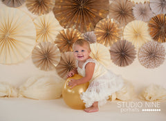 Photography Backdrop - Photo Background | Gold Pinwheels