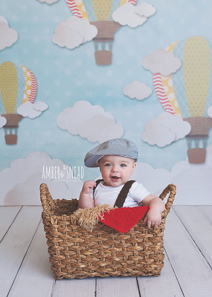 Hot Air Balloons Boy photography backdrop & background