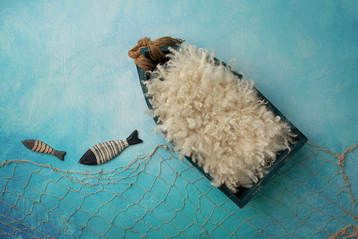 Newborn Digital Backdrop | Deep Sea Fishing II photography backdrop & background