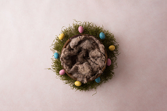 Easter Basket Brown | Easter Eggs Coll. | Digital photography backdrop & background