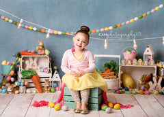 Easter Photography Backdrop | Egg-cited for Easter