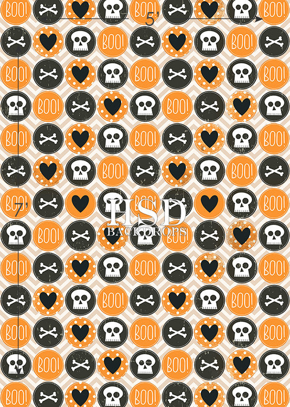 Cute Halloween photography backdrop & background