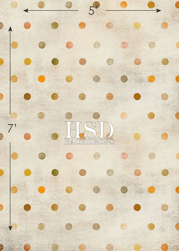 Fall Grunge Polka Dot photography backdrop & background