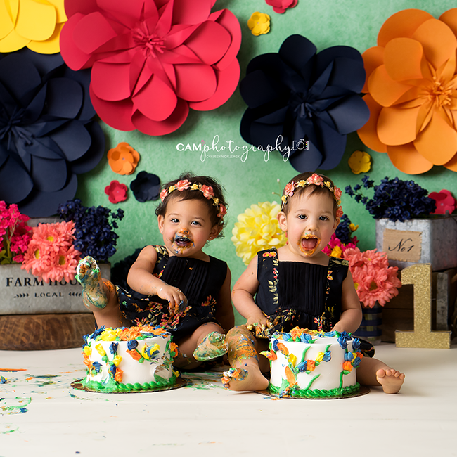 Photography Backdrop Background | Paper Flowers Set Up