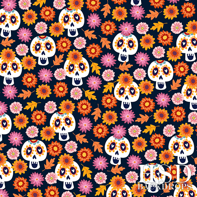 Dia de los Muertos photography backdrop & background