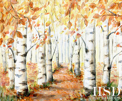 Fall Photography Backdrop Background | Autumn Birch Trees