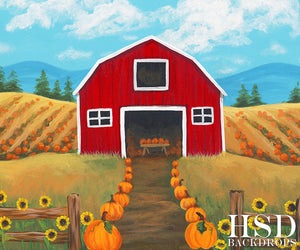 Country Pumpkins - HSD Photography Backdrops