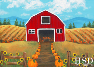 Country Pumpkins photography backdrop & background