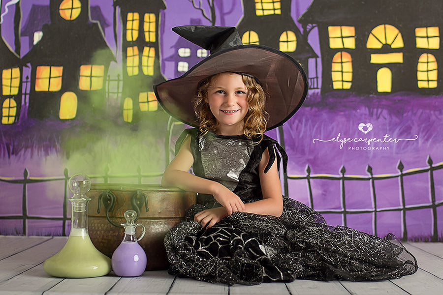 Haunted Village photography backdrop & background