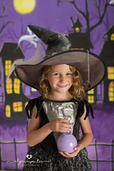 Halloween Photography Backdrop | Haunted Village