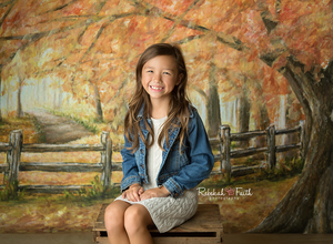 Under the Autumn Tree photography backdrop & background