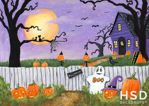Halloween Booville Children's photography backdrop & background