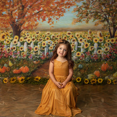 Sunflower Field Backdrop for Photography