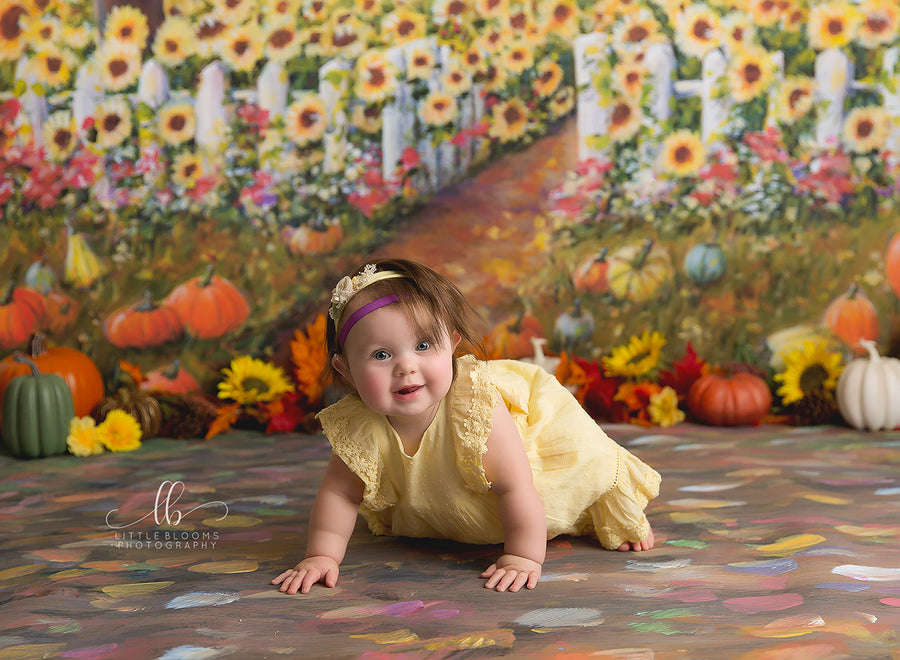 Sunflower Field photography backdrop & background