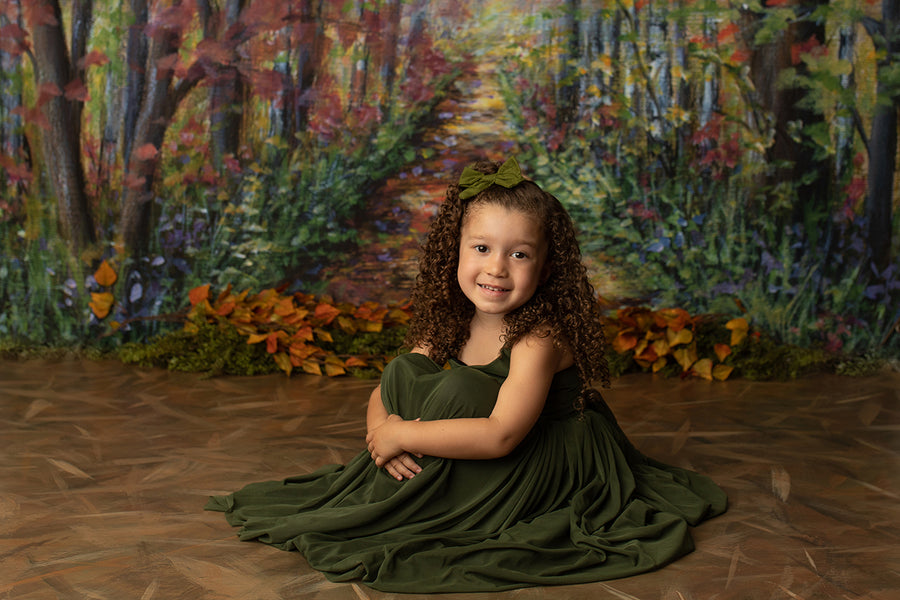 Fall Forest Photo Backdrop - HSD Photography Backdrops