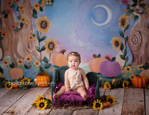 Whimsical Fall Painted photography backdrop & background