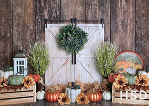 Autumn Door Set Up - HSD Photography Backdrops