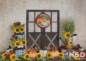 Fresh Picked Fall Backdrop Set Up - HSD Photography Backdrops