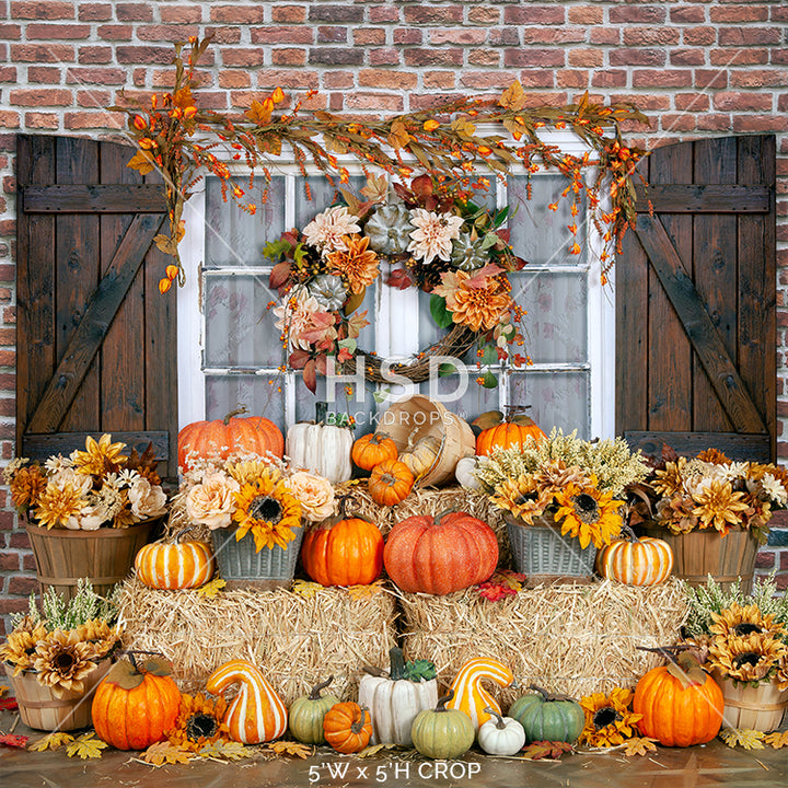 Fall on the Farmstead photography backdrop & background