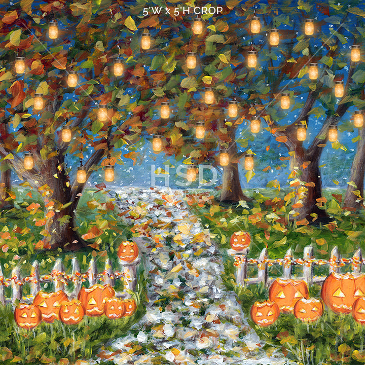 Halloween Stroll photography backdrop & background