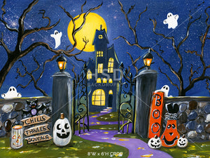 Haunted House on the Hill photography backdrop & background
