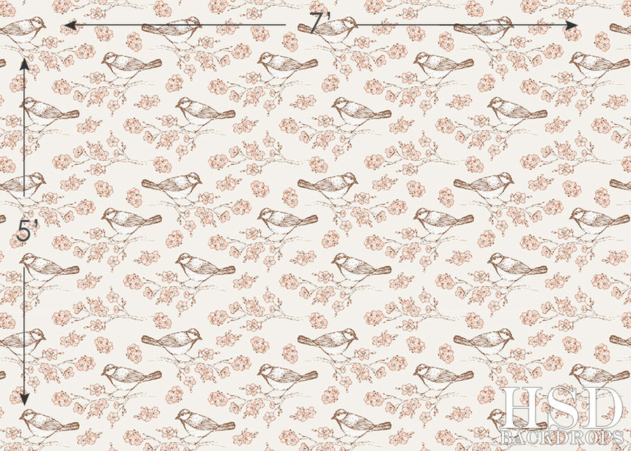 Emma Floral photography backdrop & background