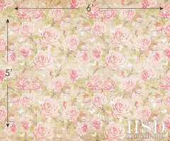 Photography Backdrop | Heather Floral