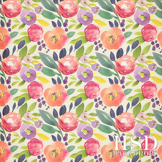 Makenna Floral photography backdrop & background