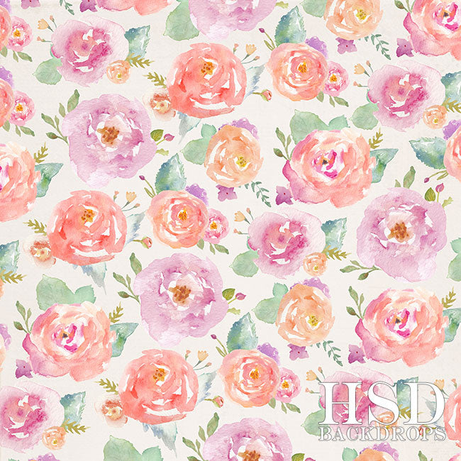 Photography Backdrop Background | Angelica Floral