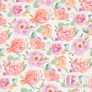 Angelica Floral photography backdrop & background