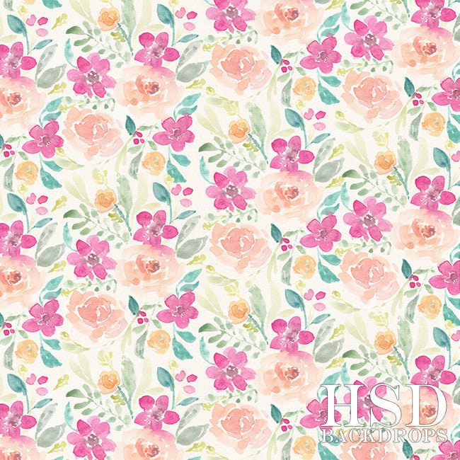 Photography Backdrop Background | Aubree Floral