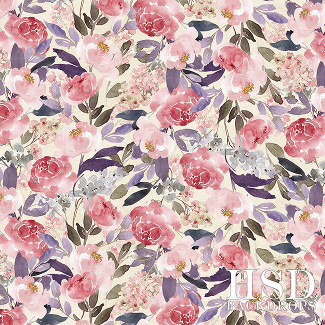 Scarlett Floral - HSD Photography Backdrops