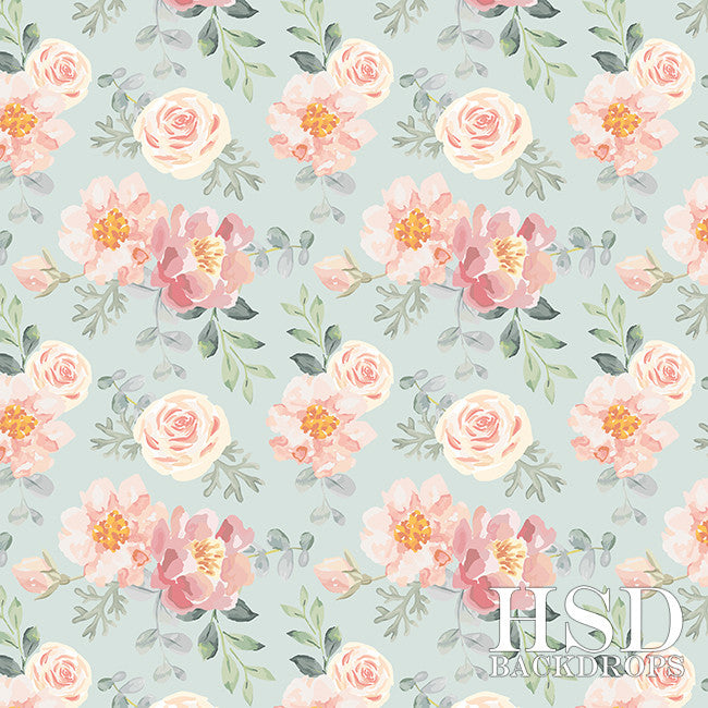 Photography Backdrop Background  | Roselyn Floral