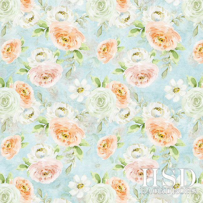 Floral Photography Backdrop | Abby