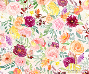 Painted Floral | Giselle photography backdrop & background