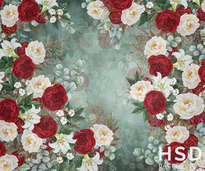 Kate Christmas Floral - HSD Photography Backdrops