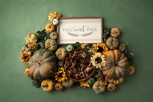 Fall Sweet Fall (Green) | Digital - HSD Photography Backdrops