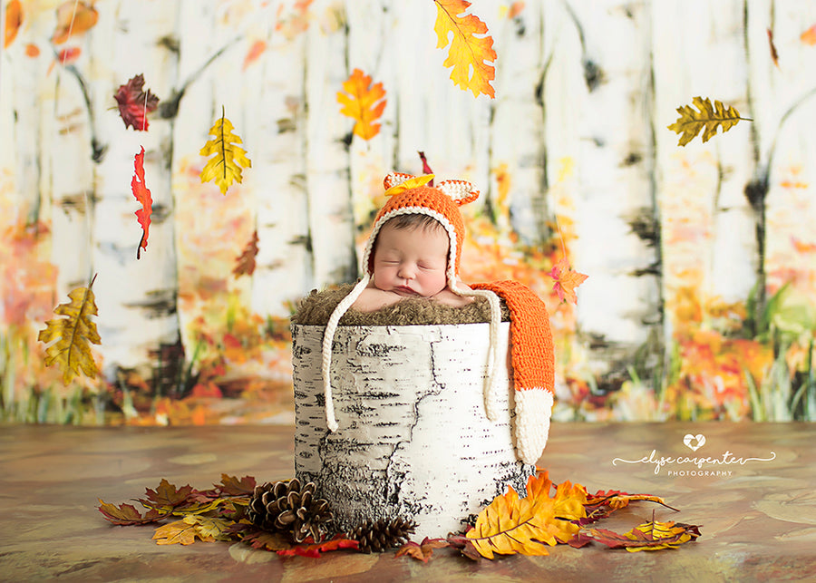 Covered in Leaves photography backdrop & background