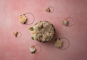 Blush | Floral Hoops Coll. | Digital photography backdrop & background