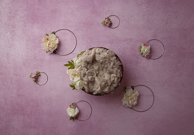 Digital Backdrop | Floral Hoops Coll. | Wisteria