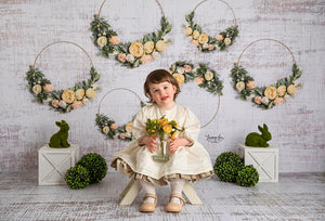 Spring Floral Hoops photography backdrop & background